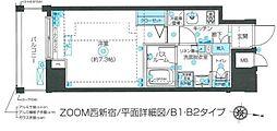 ZOOM西新宿 8階1Kの間取り