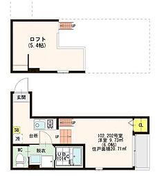 仮)歌島1丁目SKHコーポ[1階]の間取り