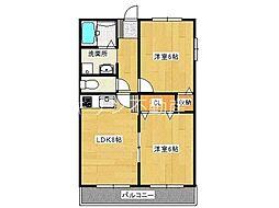 ユーユーメゾンM・K[1階]の間取り