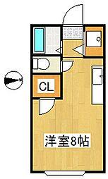 アヴェニール御井[1階]の間取り