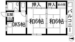 第3寿ハイツ[2階]の間取り