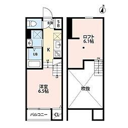 福岡市地下鉄七隈線 福大前駅 徒歩10分の賃貸アパート 1階ワンルームの間取り