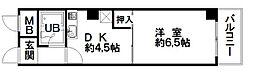 カーサ北堀江[201号室]の間取り