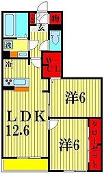 カサミエント[305号室]の間取り