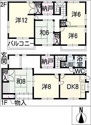 [一戸建] 三重県四日市市三滝台4丁目 の賃貸【/】の間取り