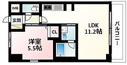 Osaka Metro御堂筋線 江坂駅 徒歩7分の賃貸マンション 3階1LDKの間取り