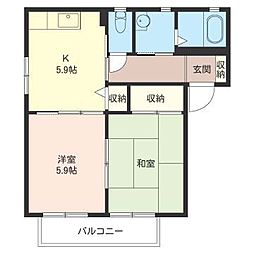 ラ・メールI[1階]の間取り