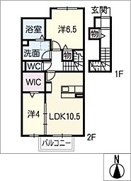 仮)D−room小池町[2階]の間取り