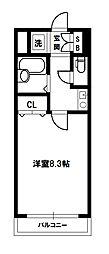 セブンハイツ[3階]の間取り