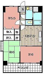 小文字幹線ビル[806号室]の間取り