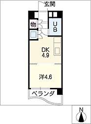 シャンクレール植田[7階]の間取り