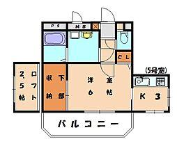 リバーサイドM3[4階]の間取り