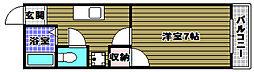 大阪府大阪狭山市半田6丁目の賃貸マンションの間取り
