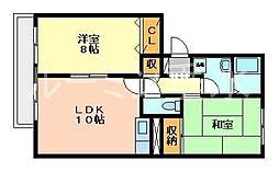 グランメゾン三木[1階]の間取り