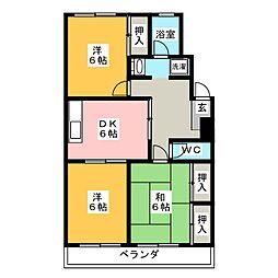 パークハイツ東刈谷[4階]の間取り
