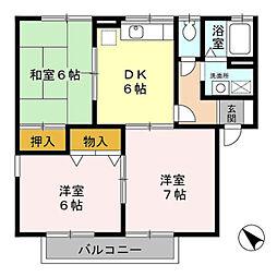 ロイヤル・スクエアA[101号室]の間取り