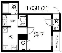 エフメゾン東粉浜[1階]の間取り