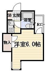 ジュネス守口[3階]の間取り