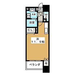 REPOSER MEIEKIMINAMI[6階]の間取り