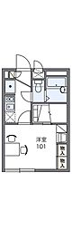 京阪本線 寝屋川市駅 徒歩14分の賃貸アパート 2階1Kの間取り
