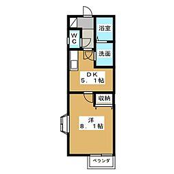 リナシメントA[2階]の間取り