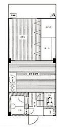 志村ハイツ[5階]の間取り