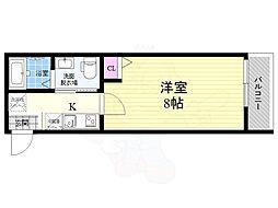 京都地下鉄東西線 二条駅 徒歩17分の賃貸マンション 4階1Kの間取り