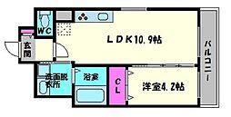 La CASA京橋[10階]の間取り