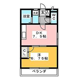 グリーンピース2000[2階]の間取り