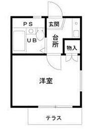 東京都目黒区南2丁目の賃貸アパートの間取り