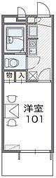 近鉄南大阪線 高鷲駅 徒歩33分の賃貸マンション 1階1Kの間取り