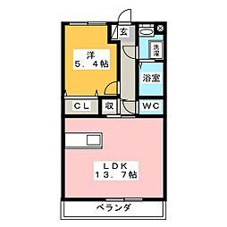 三河江曽島[2階]の間取り