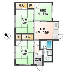 [一戸建] 滋賀県東近江市建部堺町 の賃貸【/】の間取り