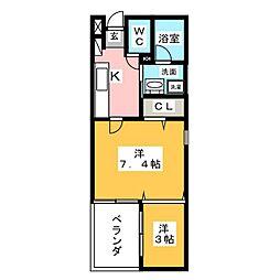 マンダリンコートささしまライブ[5階]の間取り