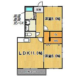 ドルフ塚本[3階]の間取り