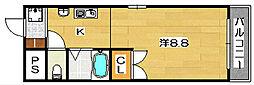 ソレイユ東奈良[2階]の間取り