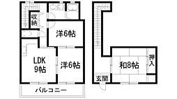グロース甲陽園[1階]の間取り