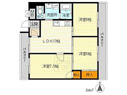 エレガンス桃山台[4階]の間取り