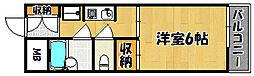 兵庫県明石市小久保5丁目の賃貸マンションの間取り
