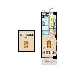 神奈川県川崎市幸区神明町2丁目の賃貸マンションの間取り
