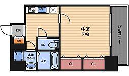 アーバネックス野田阪神駅前[7階]の間取り