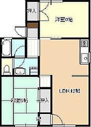 セジュール平野[1階]の間取り