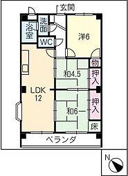 エスポワール長田 401号[4階]の間取り