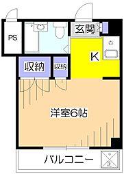 メゾン越仙(えっせん)[4階]の間取り