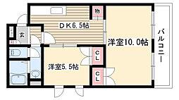 愛知県名古屋市守山区大森4丁目の賃貸マンションの間取り