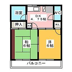 グリーンハイツ元吉田[2階]の間取り