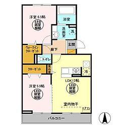 仮)D−room久保ヶ丘[3階]の間取り