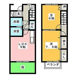 [テラスハウス] 愛知県江南市前飛保町寺前 の賃貸【/】の間取り