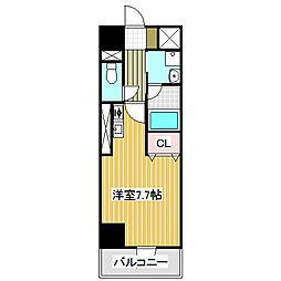 愛知県名古屋市港区浜1丁目の賃貸マンションの間取り