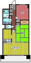 プリムベ−ル南浦和[7階]の間取り
